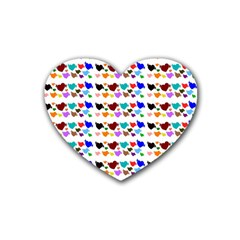 A Creative Colorful Background With Hearts Heart Coaster (4 Pack)