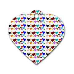 A Creative Colorful Background With Hearts Dog Tag Heart (one Side)