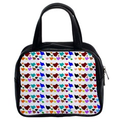 A Creative Colorful Background With Hearts Classic Handbags (2 Sides)