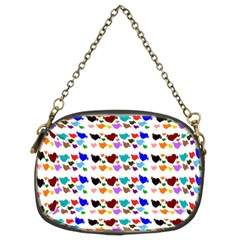 A Creative Colorful Background With Hearts Chain Purses (two Sides)  by Nexatart
