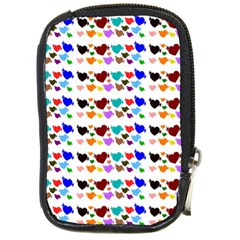 A Creative Colorful Background With Hearts Compact Camera Cases by Nexatart