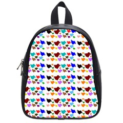 A Creative Colorful Background With Hearts School Bags (small)  by Nexatart