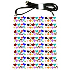 A Creative Colorful Background With Hearts Shoulder Sling Bags by Nexatart