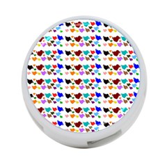 A Creative Colorful Background With Hearts 4 Port Usb Hub (one Side) by Nexatart