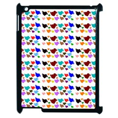 A Creative Colorful Background With Hearts Apple Ipad 2 Case (black) by Nexatart