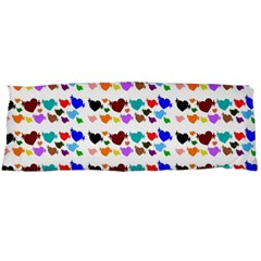A Creative Colorful Background With Hearts Body Pillow Case Dakimakura (two Sides)