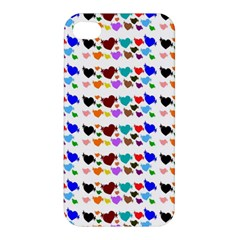 A Creative Colorful Background With Hearts Apple Iphone 4/4s Premium Hardshell Case