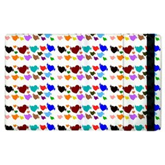 A Creative Colorful Background With Hearts Apple Ipad 2 Flip Case by Nexatart