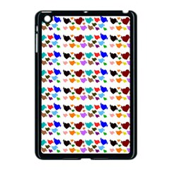 A Creative Colorful Background With Hearts Apple Ipad Mini Case (black) by Nexatart