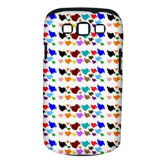 A Creative Colorful Background With Hearts Samsung Galaxy S Iii Classic Hardshell Case (pc+silicone)