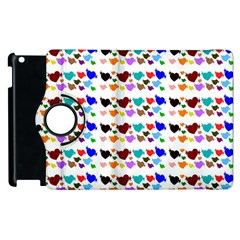 A Creative Colorful Background With Hearts Apple Ipad 2 Flip 360 Case