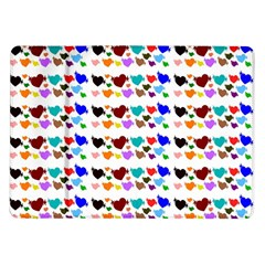 A Creative Colorful Background With Hearts Samsung Galaxy Tab 10 1  P7500 Flip Case