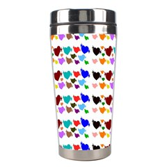 A Creative Colorful Background With Hearts Stainless Steel Travel Tumblers
