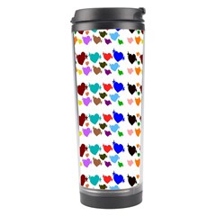 A Creative Colorful Background With Hearts Travel Tumbler by Nexatart
