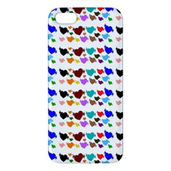 A Creative Colorful Background With Hearts Iphone 5s/ Se Premium Hardshell Case by Nexatart