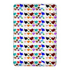 A Creative Colorful Background With Hearts Kindle Fire Hdx 8 9  Hardshell Case by Nexatart