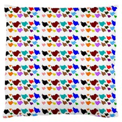 A Creative Colorful Background With Hearts Large Flano Cushion Case (two Sides) by Nexatart