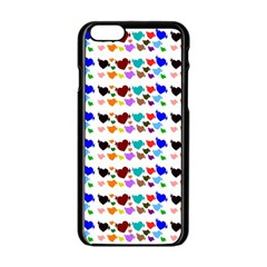 A Creative Colorful Background With Hearts Apple Iphone 6/6s Black Enamel Case by Nexatart