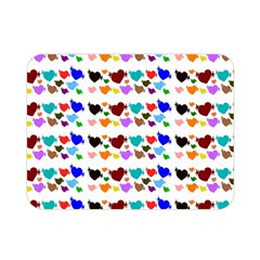 A Creative Colorful Background With Hearts Double Sided Flano Blanket (mini)  by Nexatart