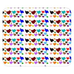 A Creative Colorful Background With Hearts Double Sided Flano Blanket (small)
