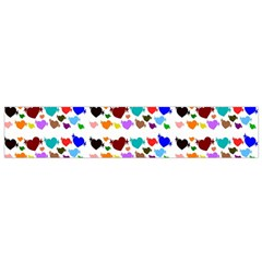 A Creative Colorful Background With Hearts Flano Scarf (small)
