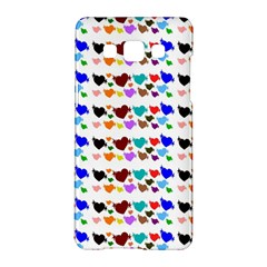 A Creative Colorful Background With Hearts Samsung Galaxy A5 Hardshell Case  by Nexatart