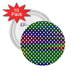 Digital Polka Dots Patterned Background 2 25  Buttons (10 Pack)