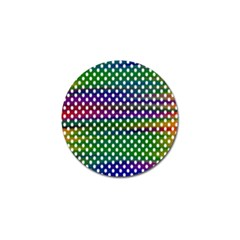 Digital Polka Dots Patterned Background Golf Ball Marker (10 Pack) by Nexatart