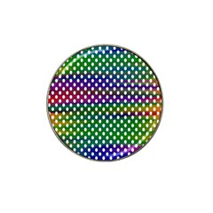 Digital Polka Dots Patterned Background Hat Clip Ball Marker by Nexatart