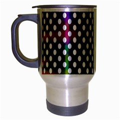 Digital Polka Dots Patterned Background Travel Mug (silver Gray) by Nexatart