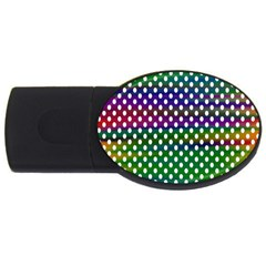Digital Polka Dots Patterned Background Usb Flash Drive Oval (4 Gb)