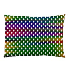Digital Polka Dots Patterned Background Pillow Case by Nexatart