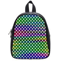 Digital Polka Dots Patterned Background School Bags (small)  by Nexatart