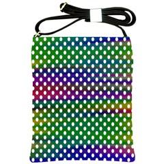 Digital Polka Dots Patterned Background Shoulder Sling Bags