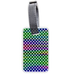 Digital Polka Dots Patterned Background Luggage Tags (one Side)