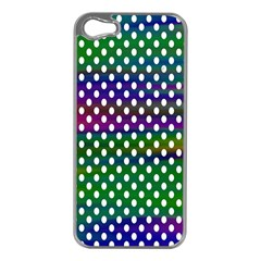 Digital Polka Dots Patterned Background Apple Iphone 5 Case (silver)