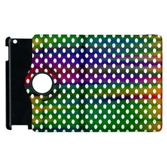 Digital Polka Dots Patterned Background Apple Ipad 3/4 Flip 360 Case by Nexatart