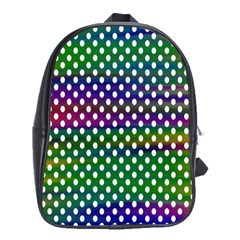 Digital Polka Dots Patterned Background School Bags (xl)