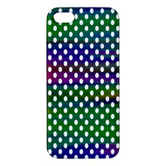 Digital Polka Dots Patterned Background Apple Iphone 5 Premium Hardshell Case by Nexatart