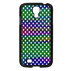 Digital Polka Dots Patterned Background Samsung Galaxy S4 I9500/ I9505 Case (black) by Nexatart