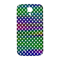 Digital Polka Dots Patterned Background Samsung Galaxy S4 I9500/i9505  Hardshell Back Case by Nexatart