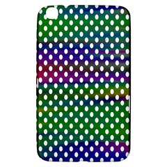 Digital Polka Dots Patterned Background Samsung Galaxy Tab 3 (8 ) T3100 Hardshell Case  by Nexatart
