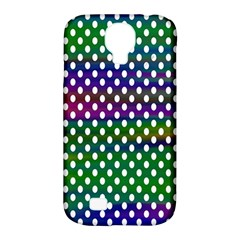 Digital Polka Dots Patterned Background Samsung Galaxy S4 Classic Hardshell Case (pc+silicone)