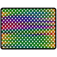 Digital Polka Dots Patterned Background Double Sided Fleece Blanket (large)