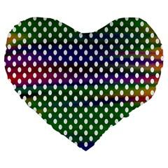 Digital Polka Dots Patterned Background Large 19  Premium Flano Heart Shape Cushions by Nexatart