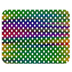 Digital Polka Dots Patterned Background Double Sided Flano Blanket (medium)