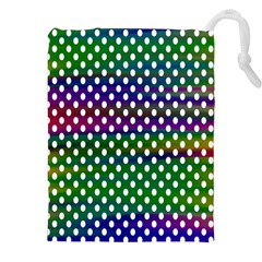 Digital Polka Dots Patterned Background Drawstring Pouches (xxl) by Nexatart