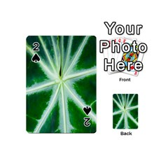 Green Leaf Macro Detail Playing Cards 54 (mini)  by Nexatart