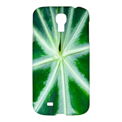 Green Leaf Macro Detail Samsung Galaxy S4 I9500/i9505 Hardshell Case by Nexatart