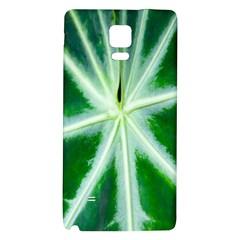 Green Leaf Macro Detail Galaxy Note 4 Back Case by Nexatart